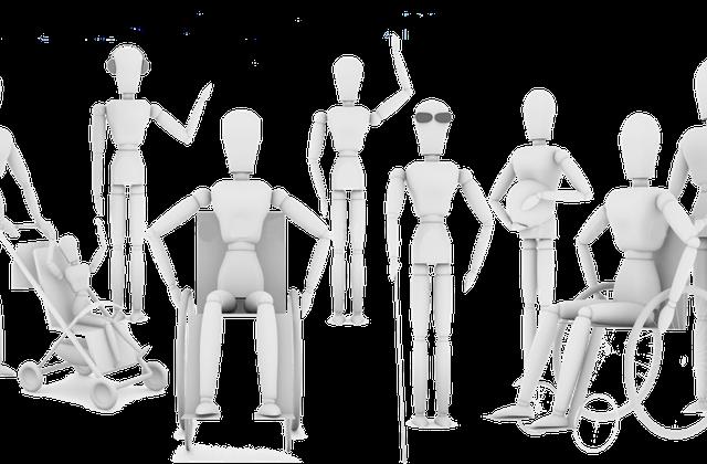 Imagen de diferentes maniquíes representando la accesibilidad