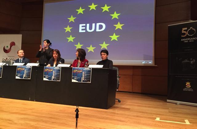Fotografía de las jornadas informativas europeas de las personas sordas