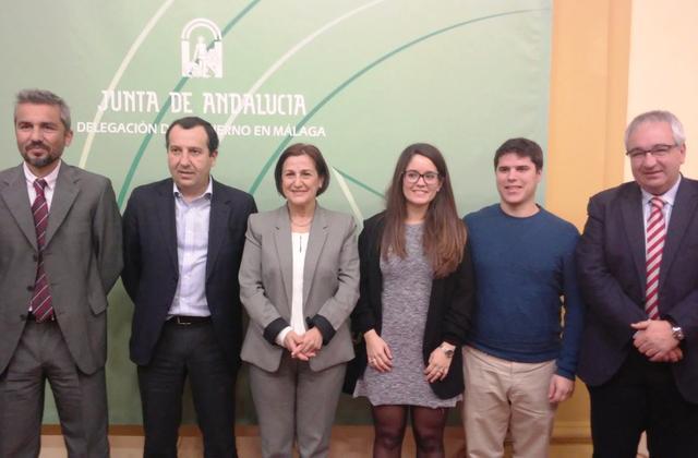 Imagen de la rueda de prensa del balance de actuación de los 26 CADEs de la provincia de Andalucía