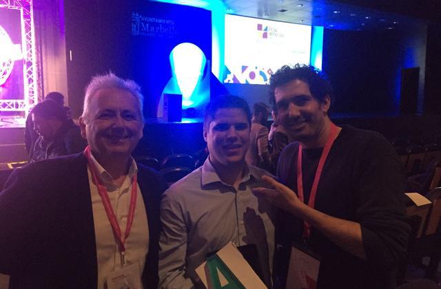 Premio Andalucía Emprende a Hearing Software y Senda. Antonio Sánchez, Ángel Millán y César Bona mejor profesor del mundo.